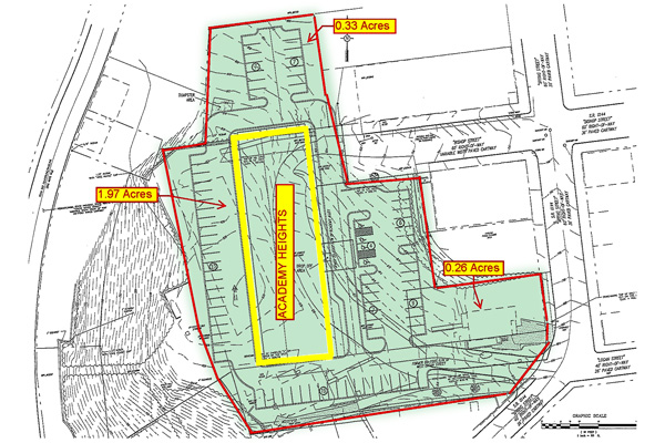 Academy Heights Property Map