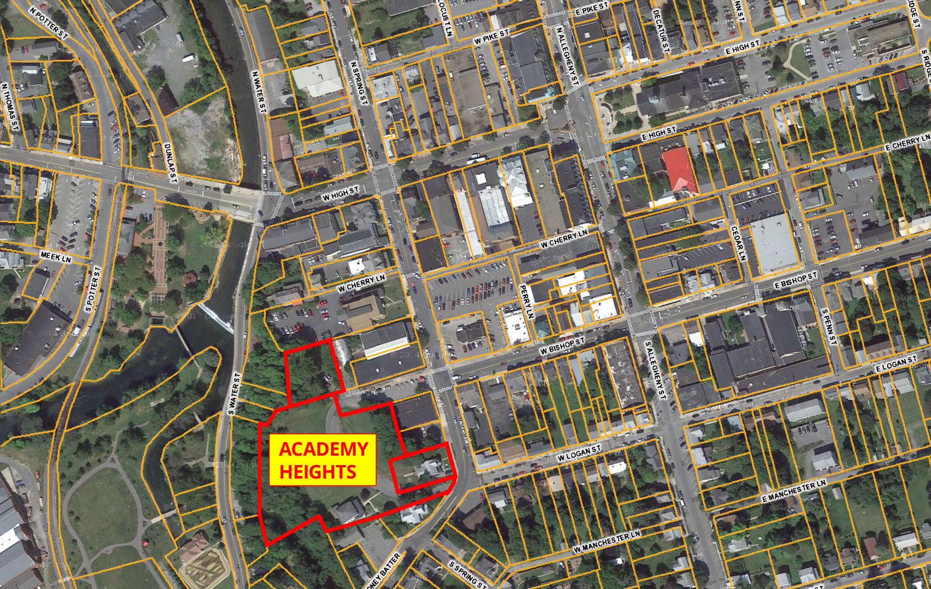 Academy Heights Location Map